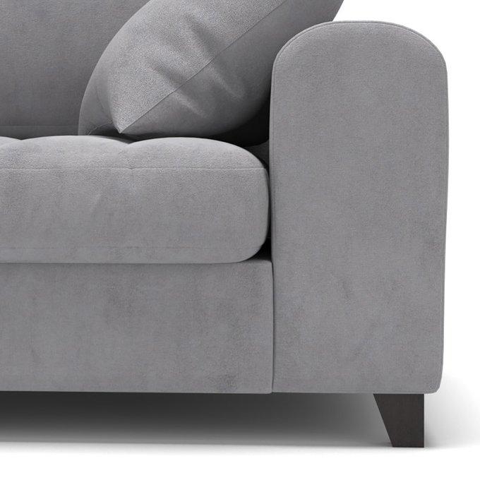 Диван-кровать Vittorio MT трехместный long светло-серого цвета