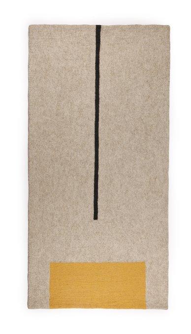 Коврик из 100% шерсти ручного цельнокатанного валяния