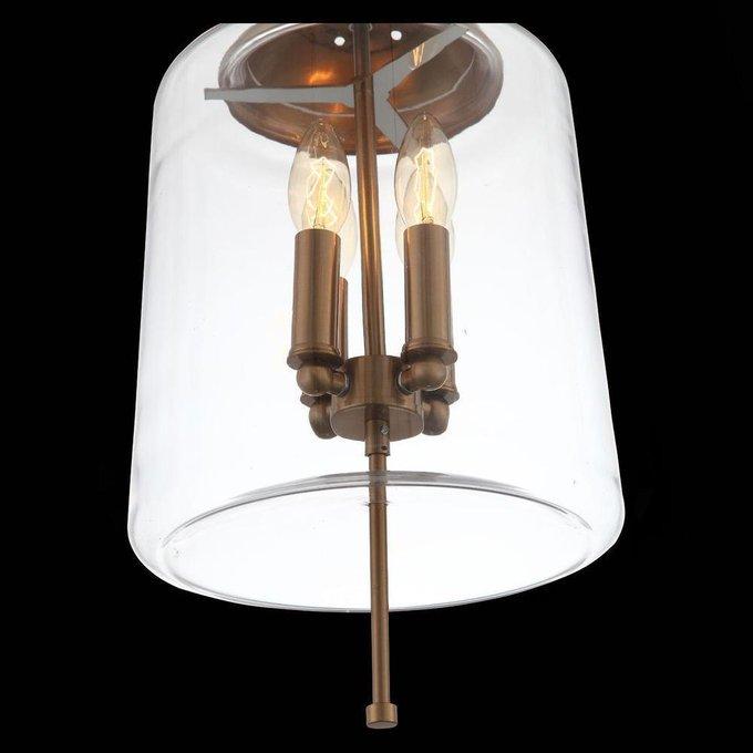 Подвесной светильник Delevaso с плафоном из стекла