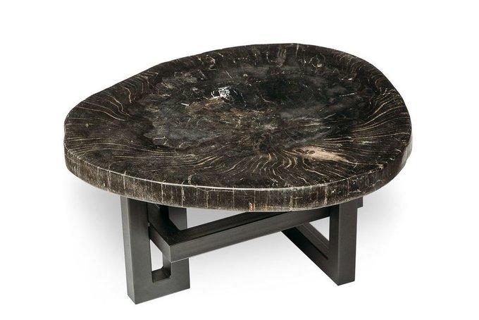 Журнальный стол Бинтау из окаменелого дерева 381082