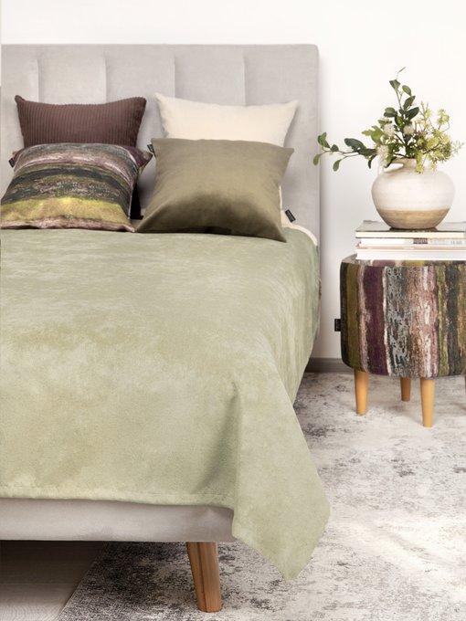 Покрывало Uno Lofty Olive 140х210 оливкового цвета
