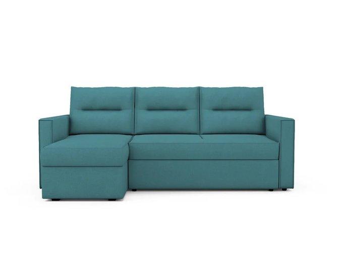 Угловой Диван-кровать Macao левый бирюзового цвета