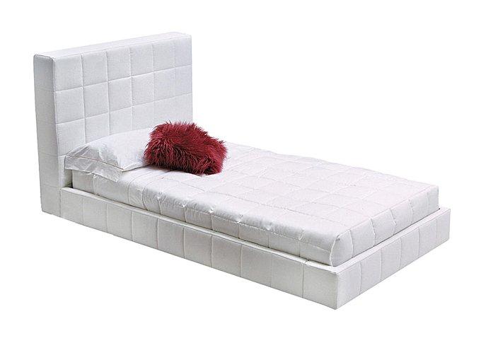 Кровать Squaring Alto из Белой Экокожи 180х200 см
