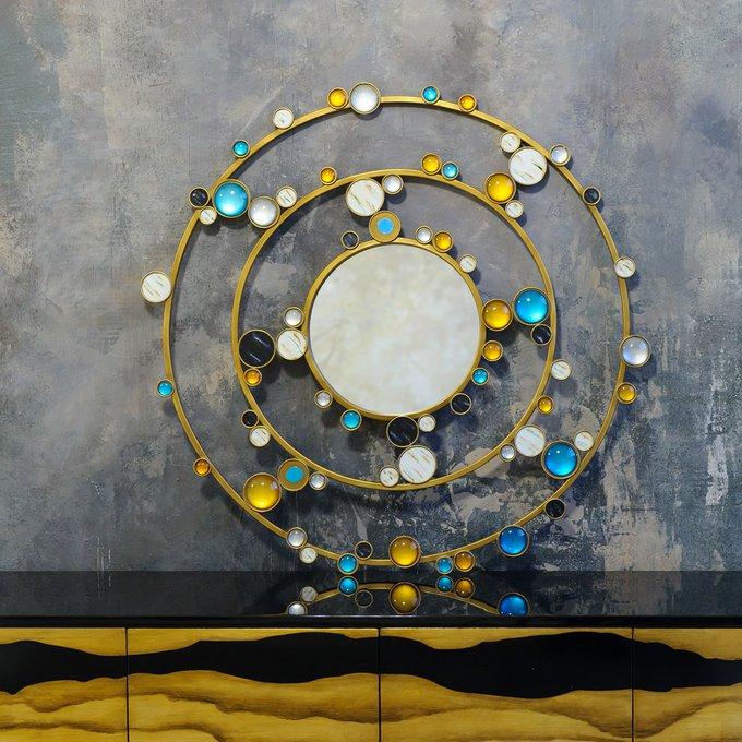 Декоративное настенное зеркало Гэлакси в металлической раме