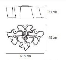 Дизайнерский потолочный светильник Logico Soffitto 4 плафона