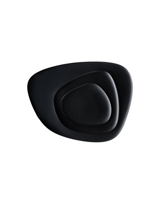 Набор из трех тарелок Namaste черного цвета