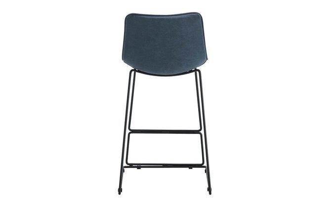 Полубарный стул синего цвета