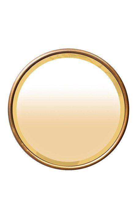 Зеркало круглое золотое