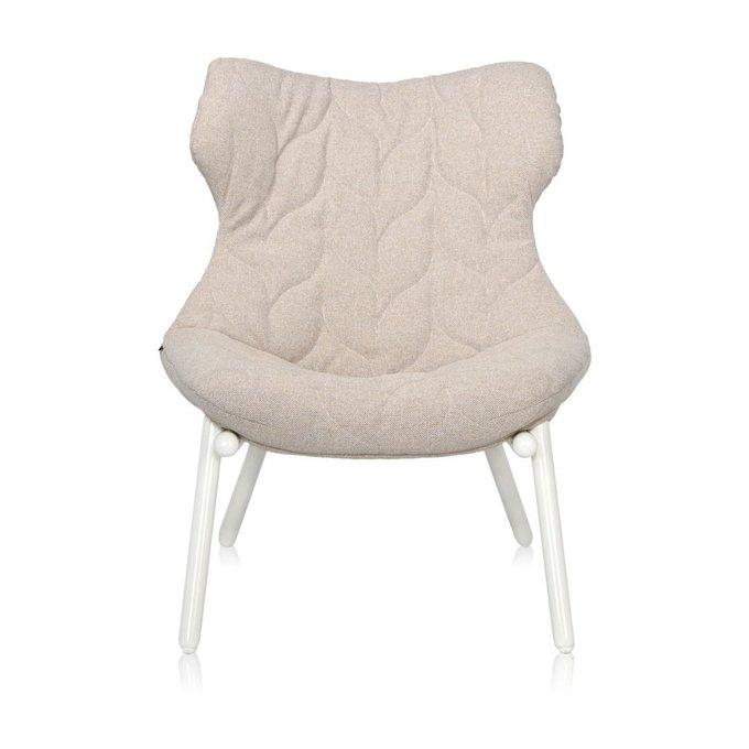 Кресло Foliage бежевого цвета