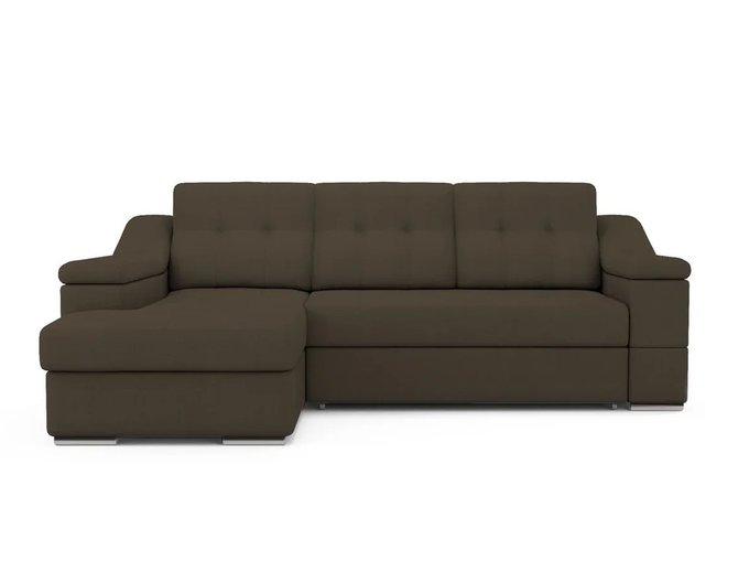 Угловой Диван-кровать Liverpool левый темно-коричневого цвета
