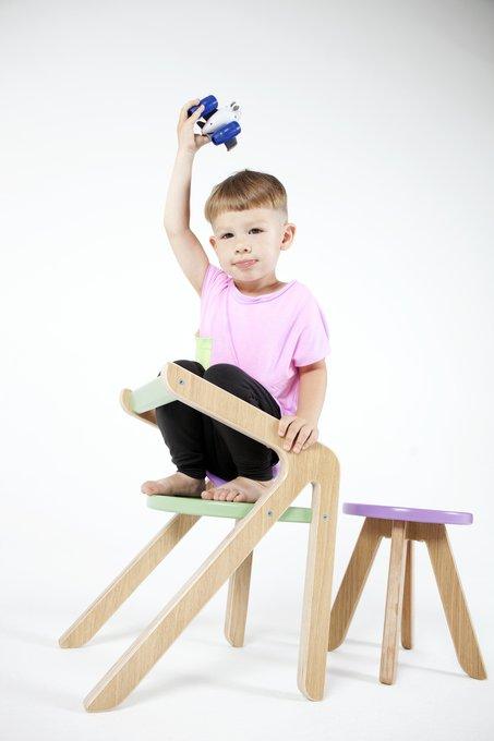 Стул Malevich розового цвета 4-8 лет