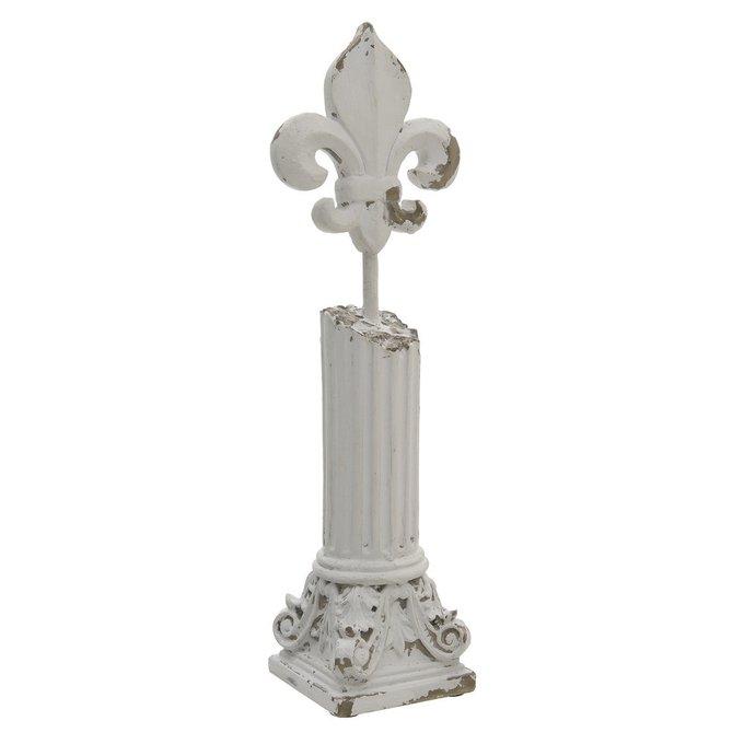 Декор настольный белого цвета