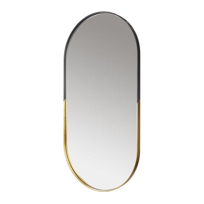 Зеркало настенное Арена в черно-золотой раме