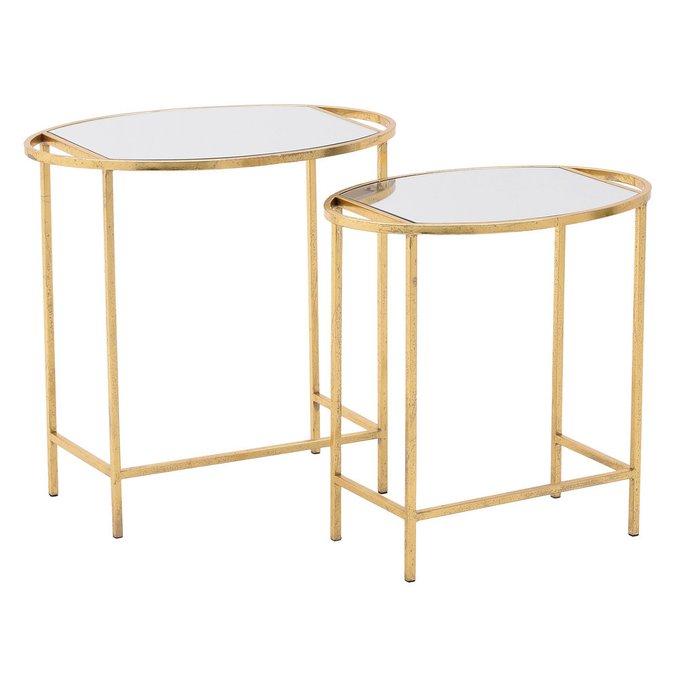 Набор из двух кофейных столов золотого цвета
