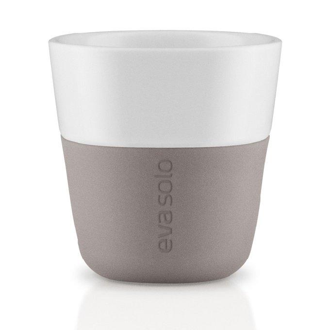 Комплект из двух чашек для эспрессо пурпурно-серого цвета