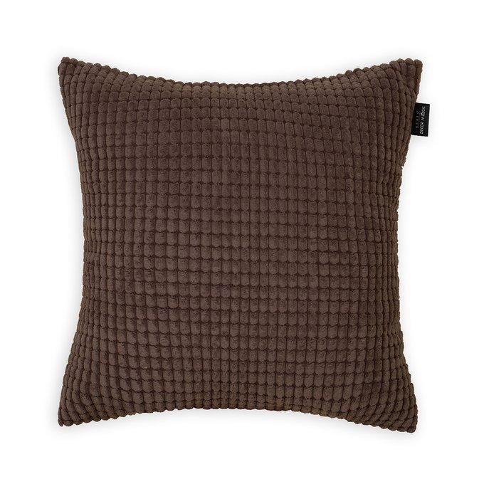 Декоративная подушка Civic Chocolate шоколадного цвета