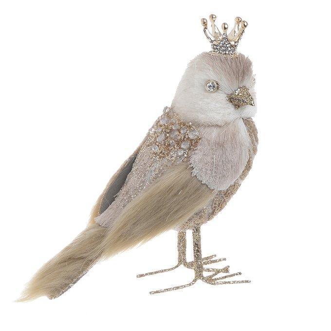 Декор настольный птица бежевого цвета