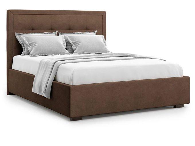 Кровать Komo 180х200 коричневого цвета с подъемным механизмом