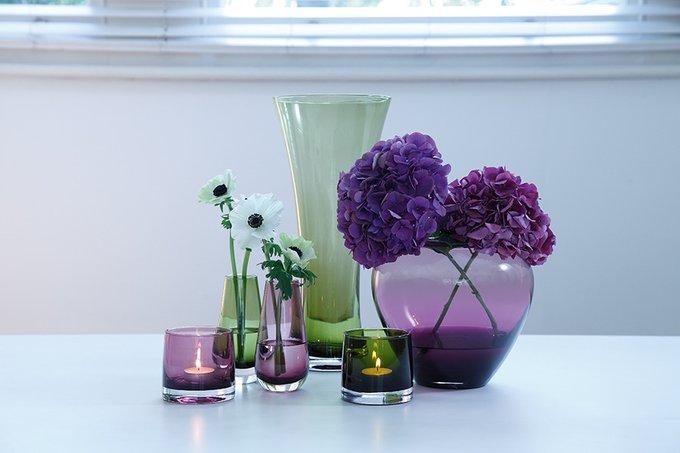 Ваза в форме бутона flower colour фиолетовая