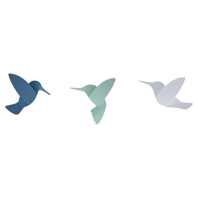 Декор для стен hummingbird с девятью разноцветными элементами