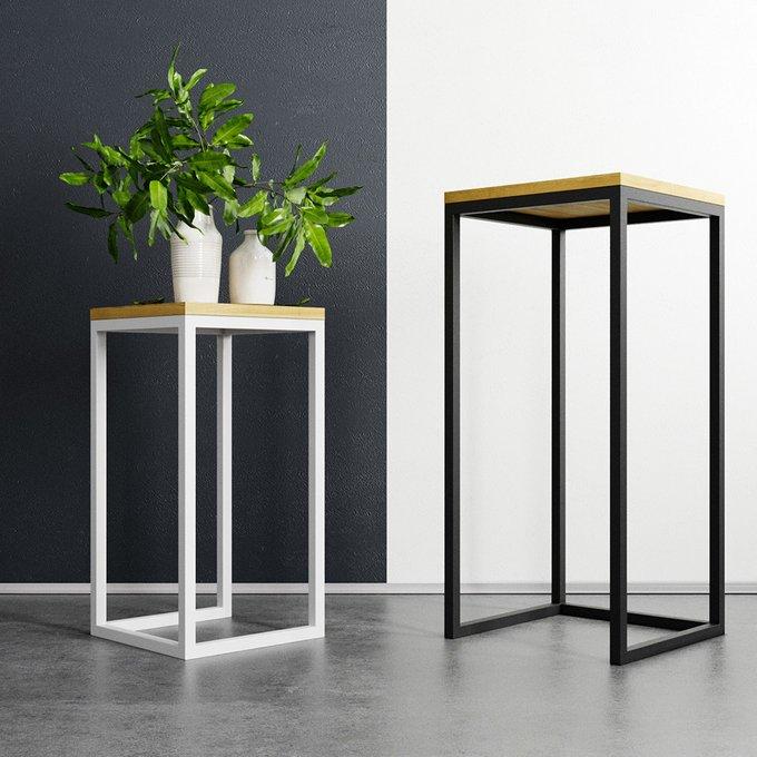 Кофейный столик Loft с белым подстольем
