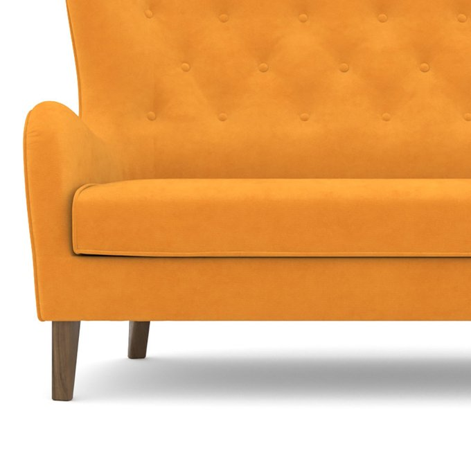 Диван двухместный Montreal (156 см) желтого цвета