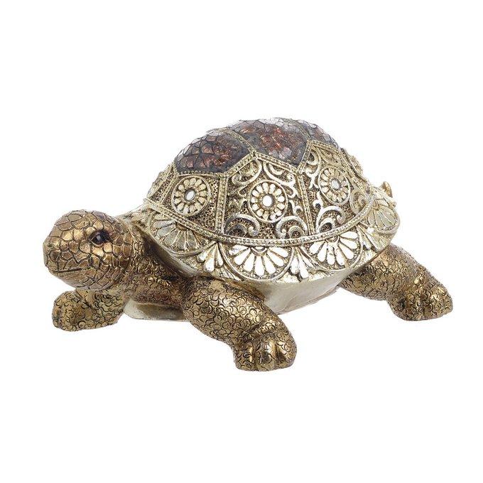 Декор настольный Черепаха золотого цвета