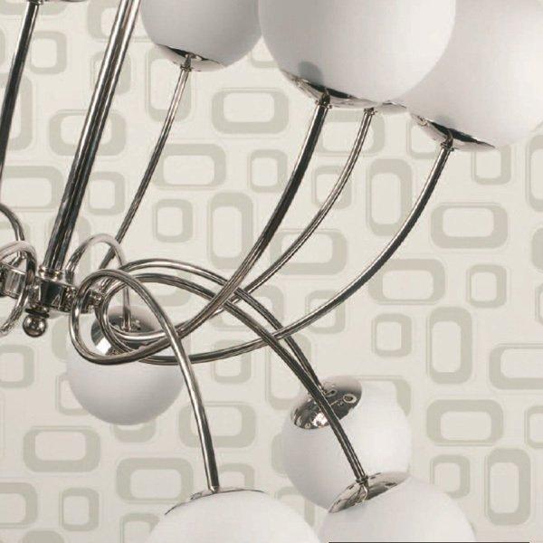 Подвесная люстра Jago Globi с плафонами из белого матового стекла