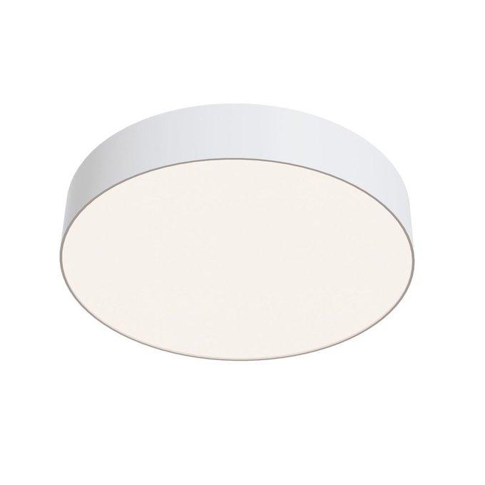 Потолочный светильник Zon из металла и пластика белого цвета