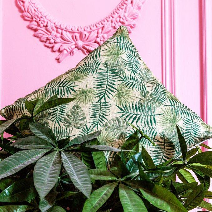 Интерьерная подушка Зеленые джунгли 45х45