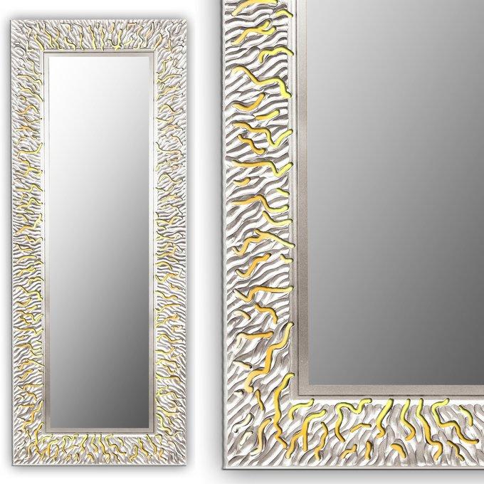 Настенное зеркало CORAL L silver
