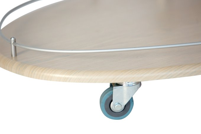 Стол сервировочный Брум на колесиках дуб