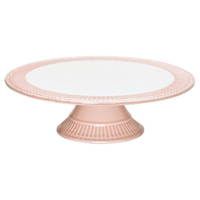 Кейкстенд Alice pale pink из фарфора