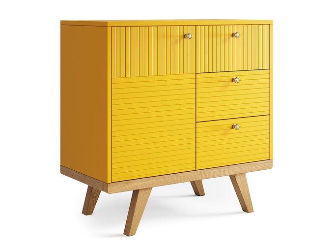 Мини-комод Thimon v2 желтого цвета