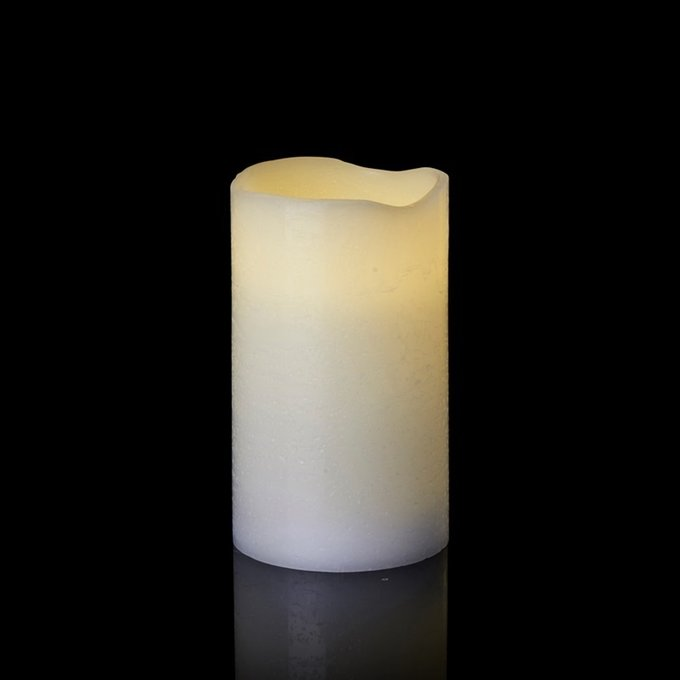 Светодиодная свеча с таймером Tenna белого цвета
