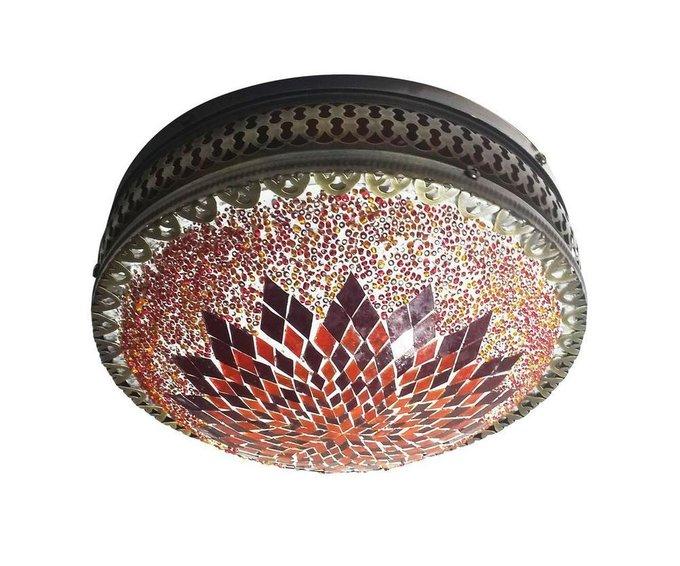 Настенно-потолочный светильник Марокко из металла и стекла