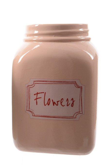 Большой горшок для рассады Flowers розового цвета