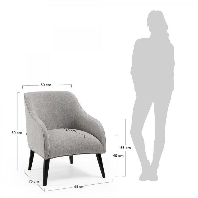 Кресло Lobby темно-серого цвета