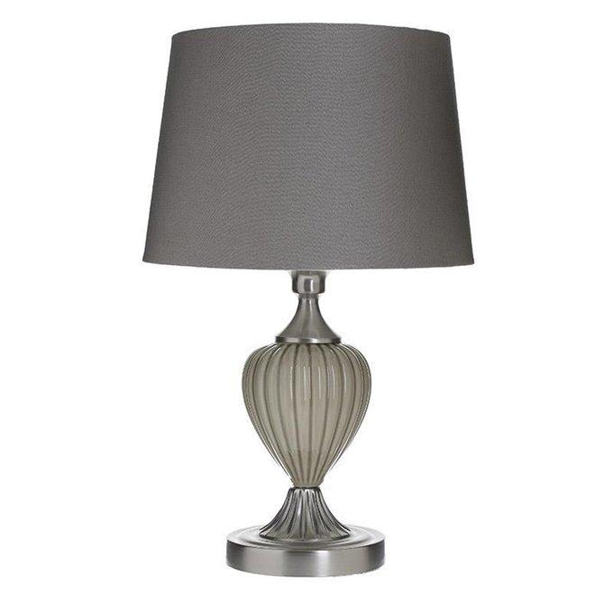 Лампа настольная с серым абажуром