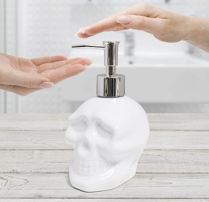 Диспенсер для мыла Balvi skully керамический
