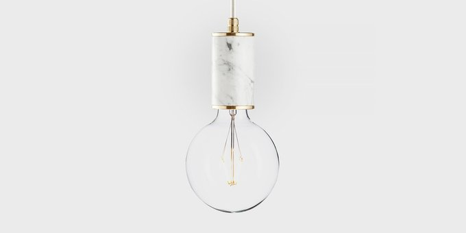 Подвесной светильник из мрамора Marmor Glans bianco