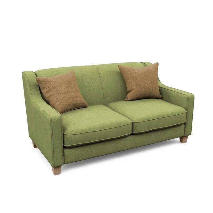 Двухместный диван Агата M зеленого цвета