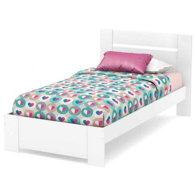 Кровать South Shore Reevo белого цвета 90х200