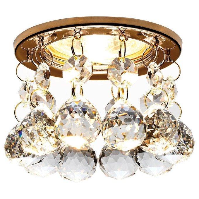 Встраиваемый светильник Crystal с хрустальными подвесками