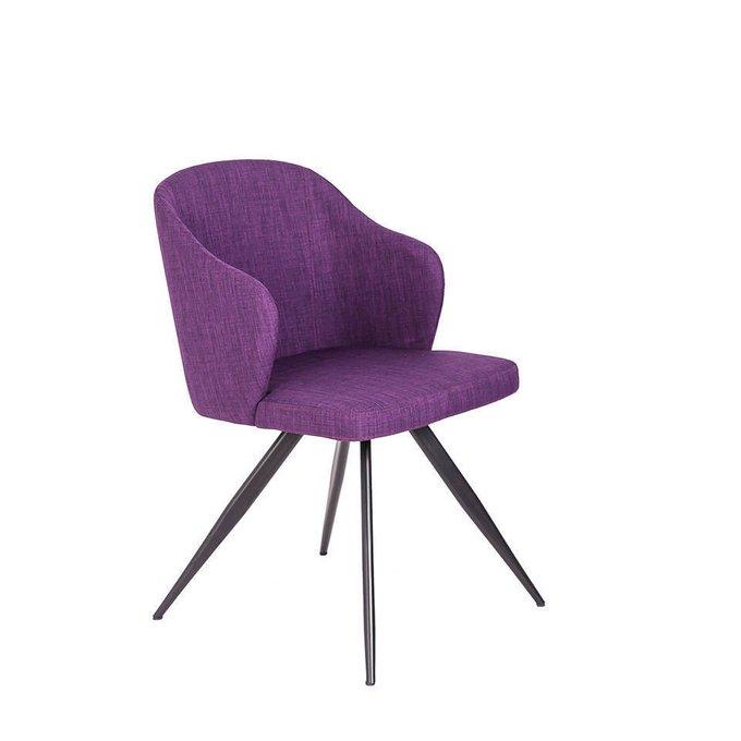 Стул фиолетового цвета на стальных ножках