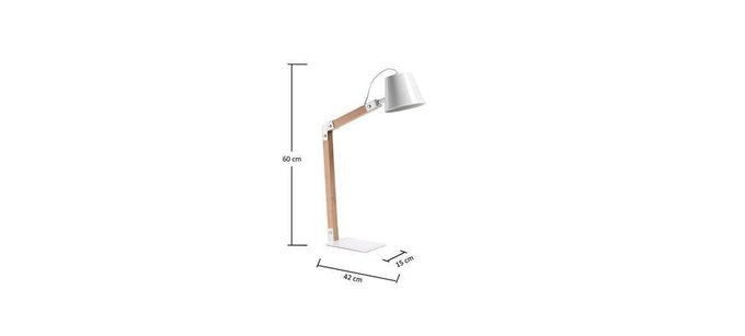 Настольная лампа Julia Grup Andra из металла и дерева