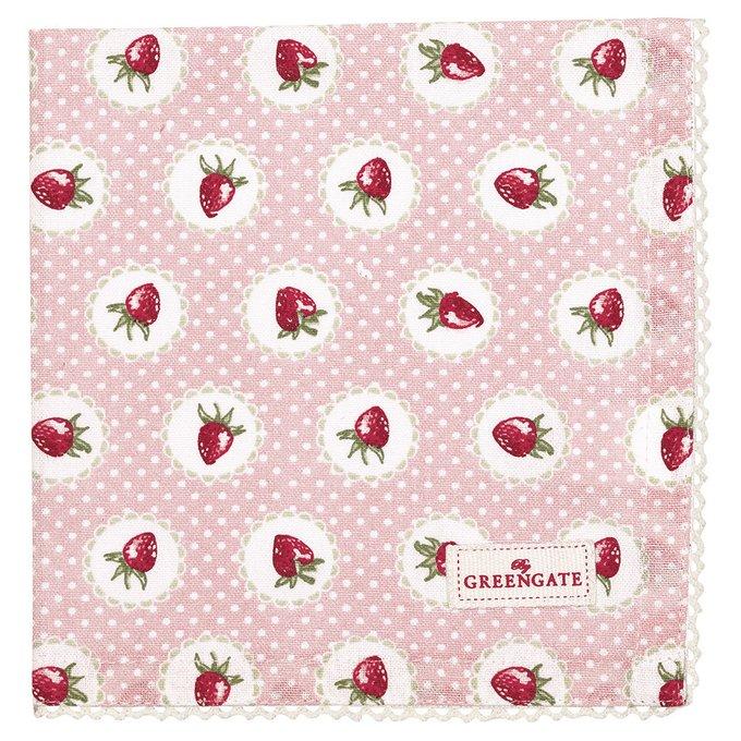 Салфетка Strawberry pale pink из хлопка