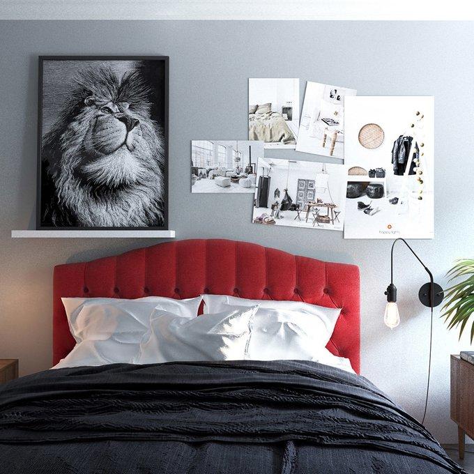 Кровать Hannah сиреневого цвета на ножках 160х200