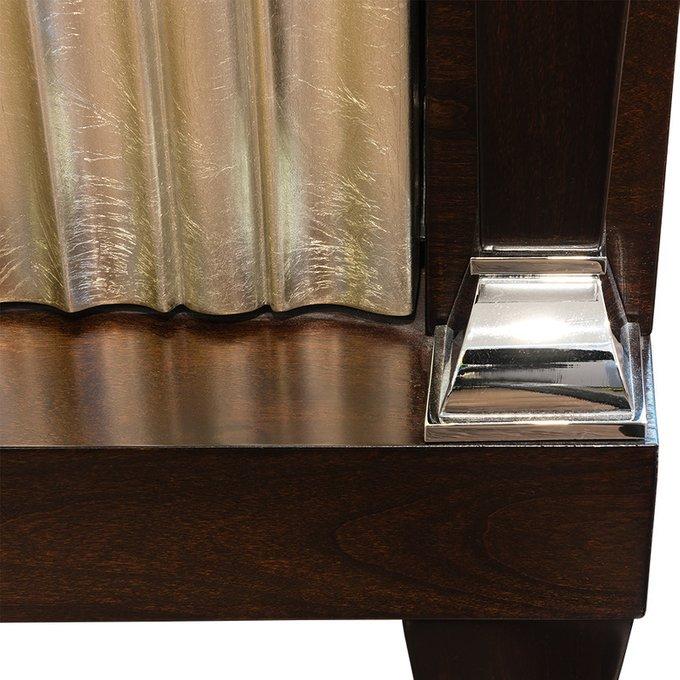 Прикроватная тумбочка Mestre в отделке сусальное серебро
