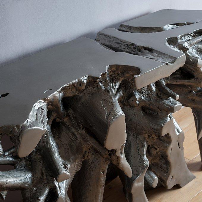 Стол консольный Solaris из тикового дерева